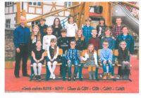 Photo de classe CE1 – CE2 – CM1 – CM2